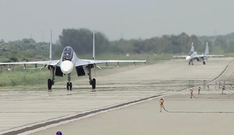 Экипажи Су-30СМ отработали боевые пуски ракет в Крыму