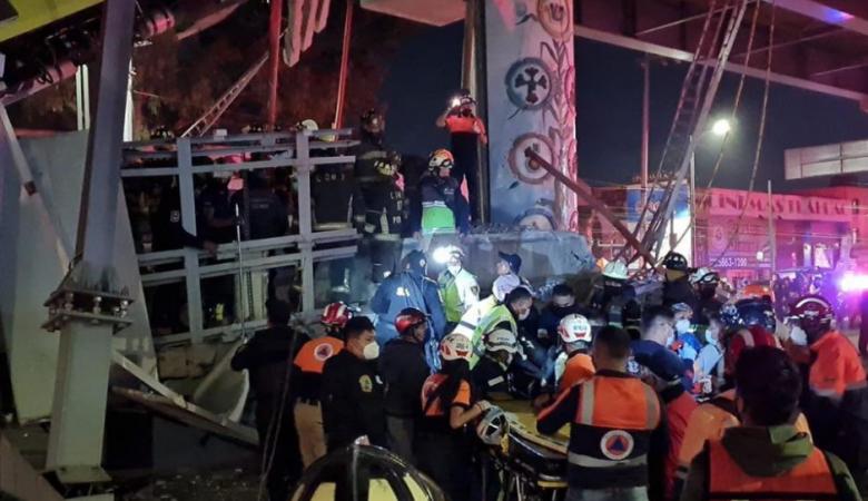 Двадцать человек погибли при обрушении метромоста в Мехико