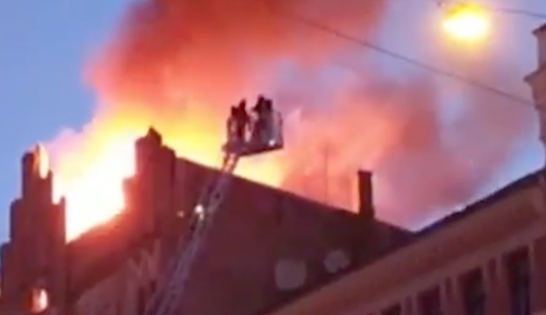 В Риге восемь человек заживо сгорели в хостеле, ещё девять пострадали