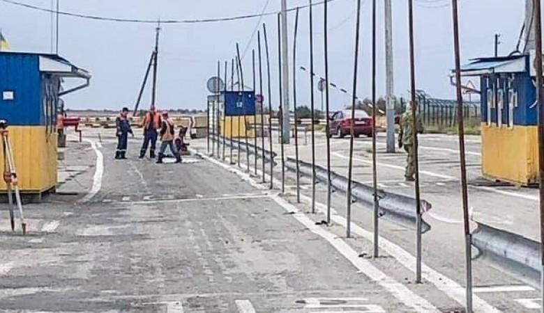 Украина строит новые пункты пропуска на границе с Крымом