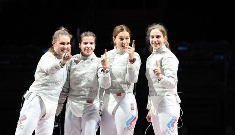 Россиянки взяли олимпийское золото в командном турнире по фехтованию на саблях