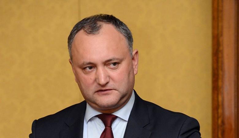 Додон: сейчас в Молдове никто не пойдет на риск признания Крыма частью России