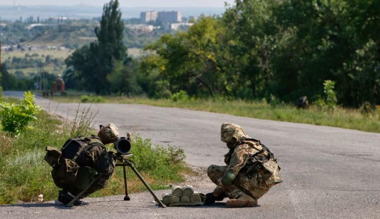Украина провела учения на границе с Крымом