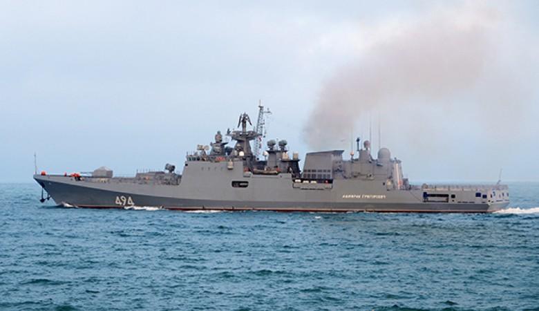 Экипаж фрегата «Адмирал Григорович» предупредил бомбовый удар условного противника