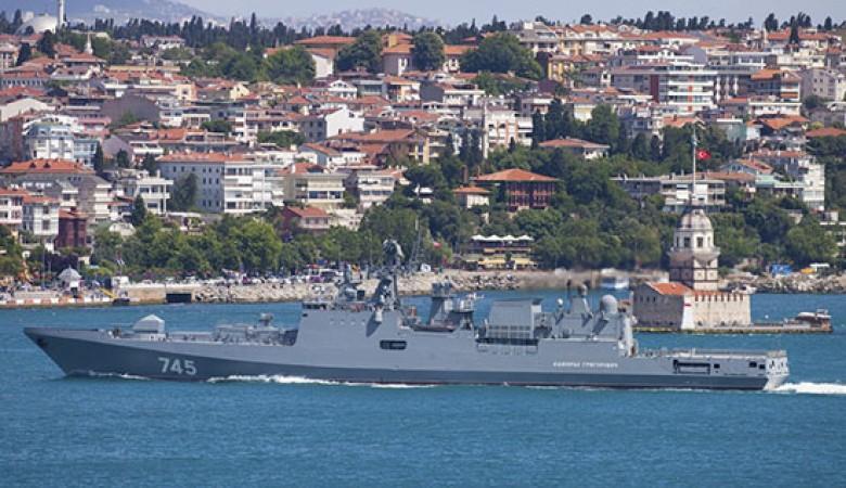 Фрегат ЧФ «Адмирал Григорович» возвращается в Севастополь после выполнения задач в Атлантическом океане и Средиземном море