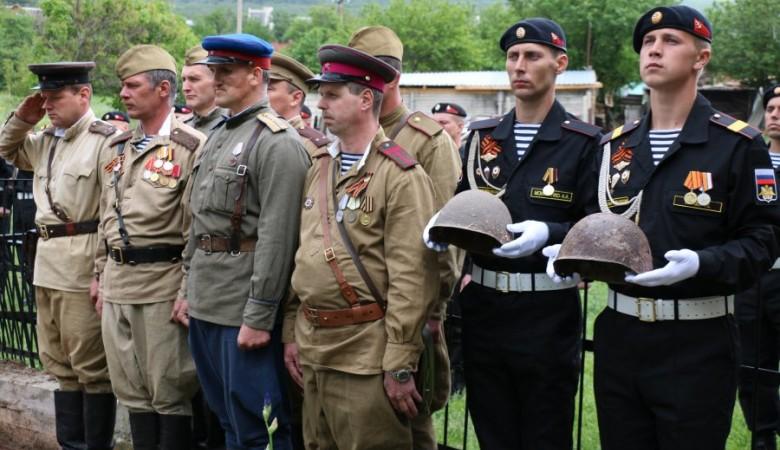 Под Севастополем перезахоронили останки 41 солдата