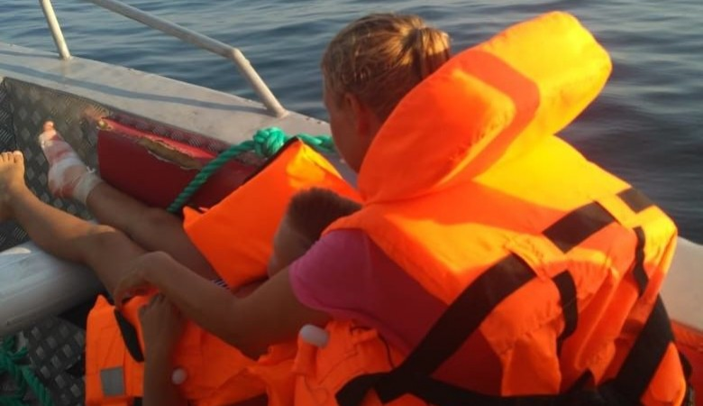 Ребенок травмировал ногу на отдаленном пляже в Балаклаве