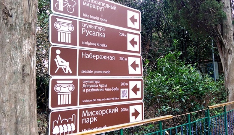 Минкурортов Крыма изготовило 100 знаков туристской навигации