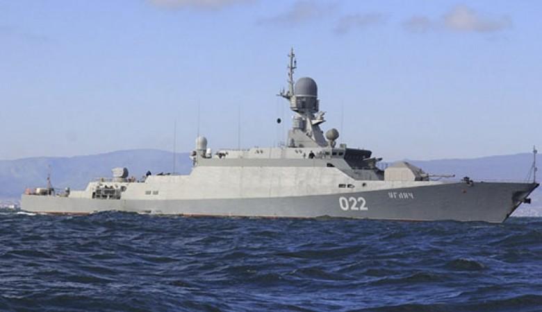 В Средиземном море выполнил стрельбы малый ракетный корабль ЧФ «Углич»